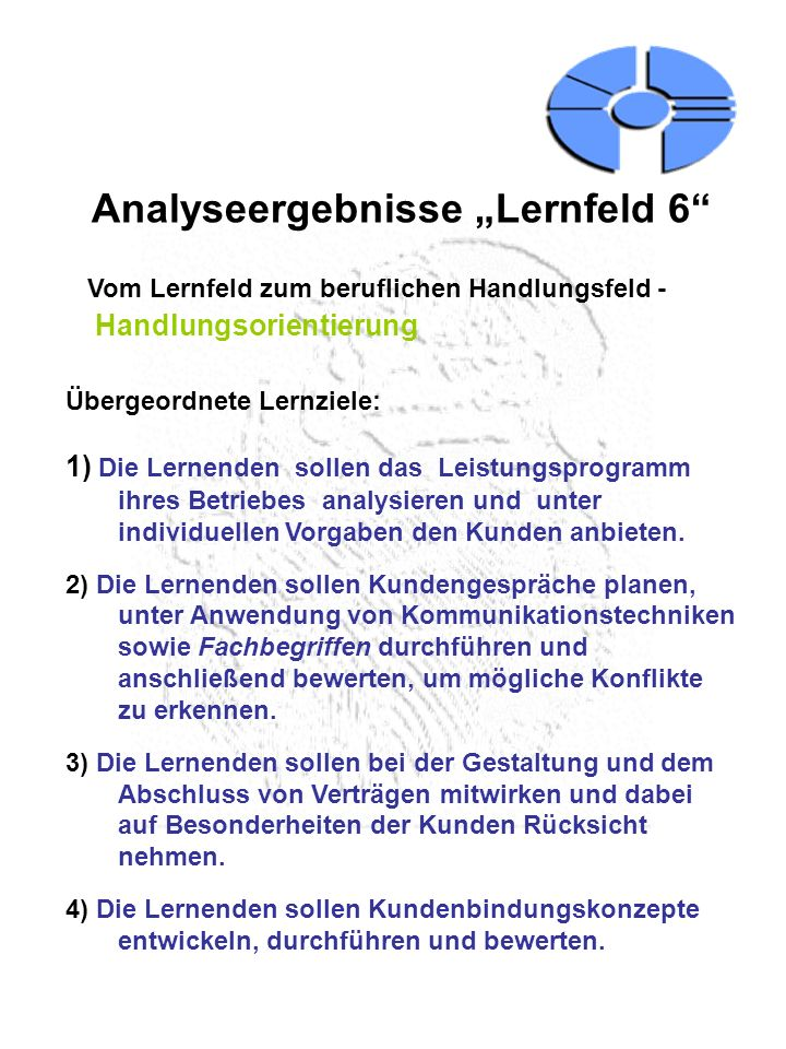 """Analyseergebnisse """"Lernfeld 6"""