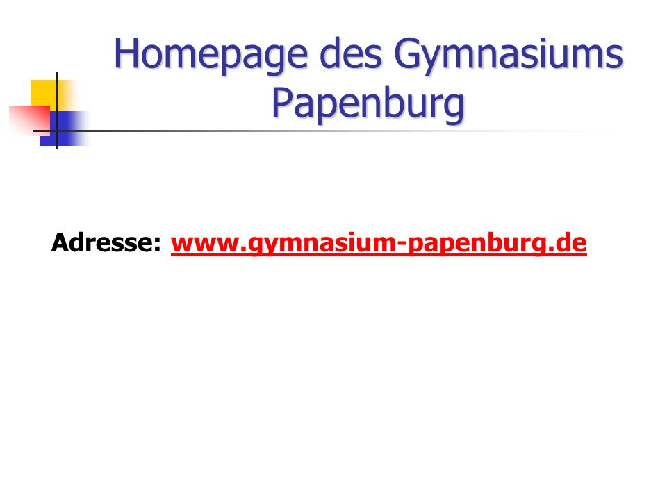 Homepage des Gymnasiums Papenburg