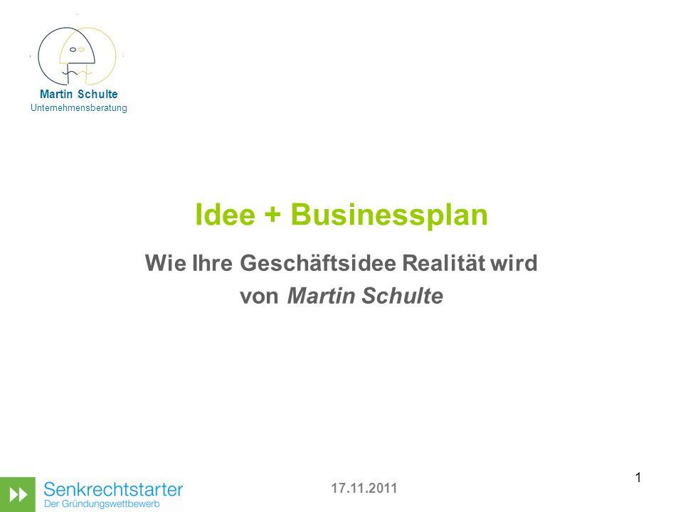 Wie Ihre Geschäftsidee Realität wird von Martin Schulte