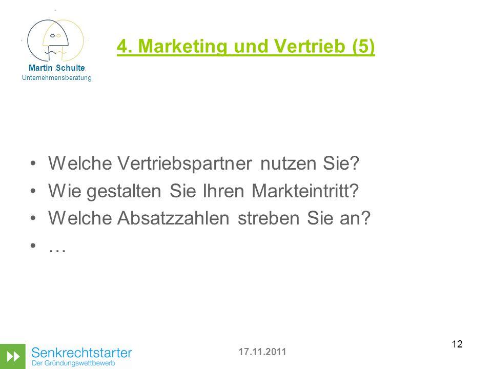 4. Marketing und Vertrieb (5)