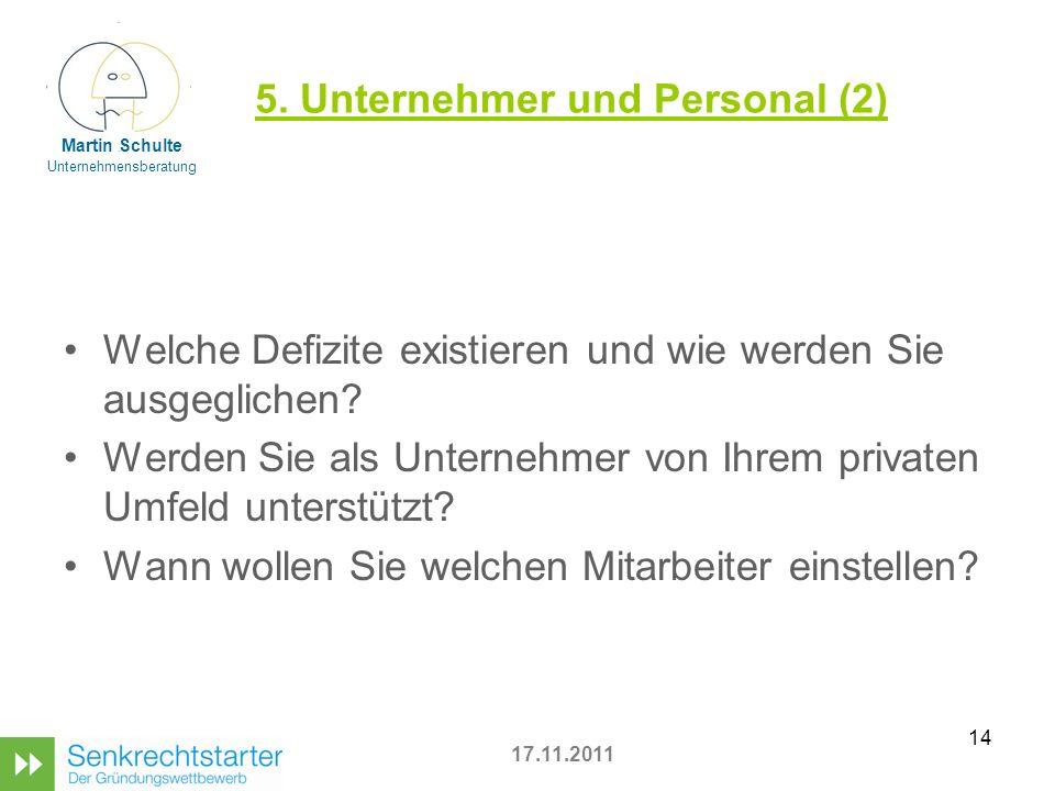 5. Unternehmer und Personal (2)