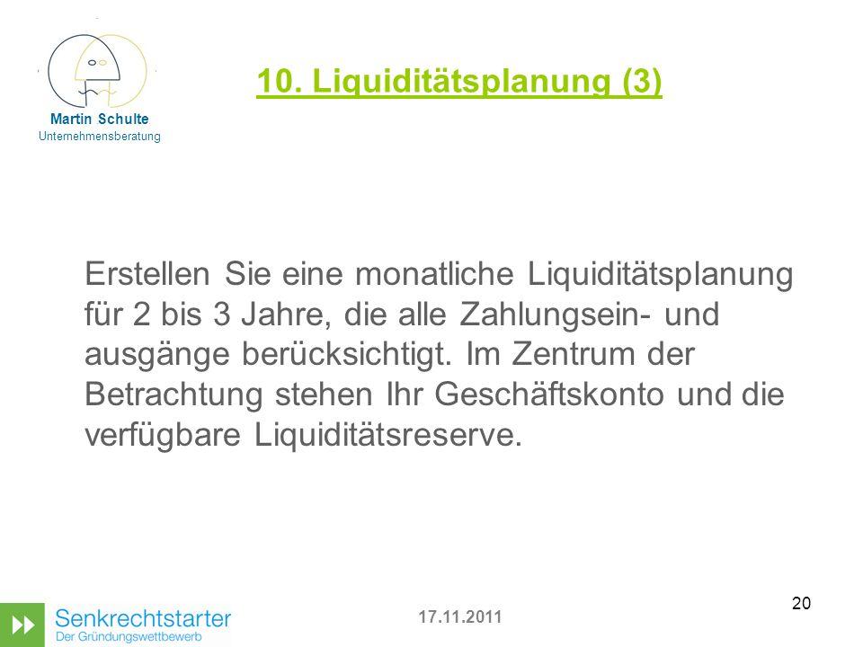 10. Liquiditätsplanung (3)