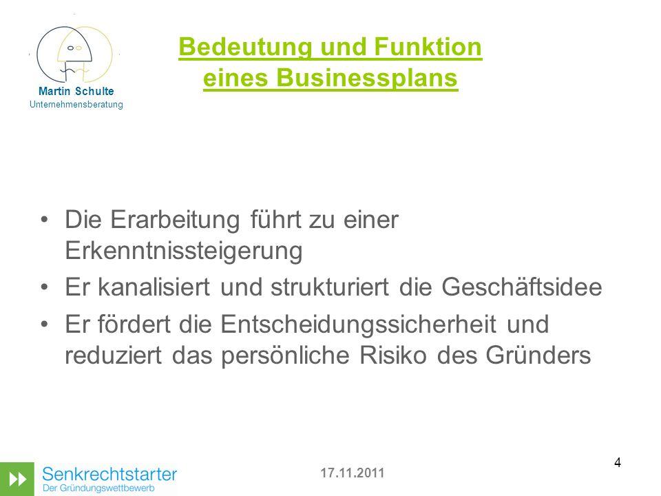 Bedeutung und Funktion eines Businessplans
