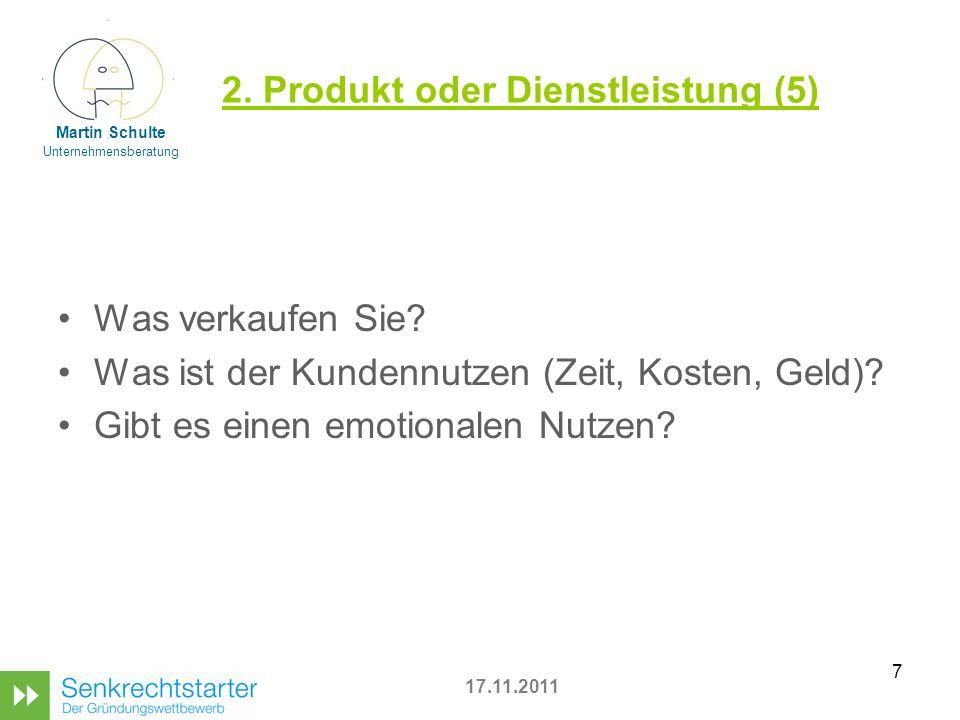 2. Produkt oder Dienstleistung (5)