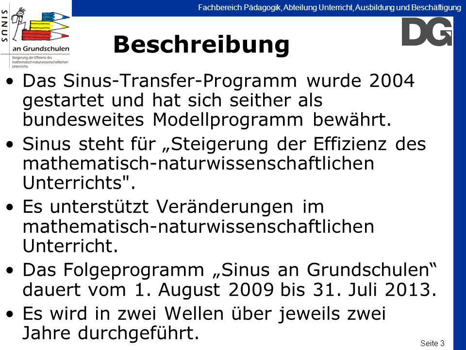 Beschreibung Das Sinus-Transfer-Programm wurde 2004 gestartet und hat sich seither als bundesweites Modellprogramm bewährt.