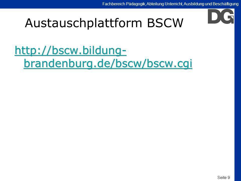 Austauschplattform BSCW