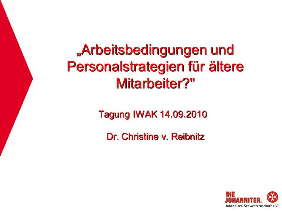 """""""Arbeitsbedingungen und Personalstrategien für ältere Mitarbeiter"""