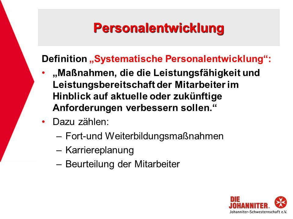 """Personalentwicklung Definition """"Systematische Personalentwicklung :"""