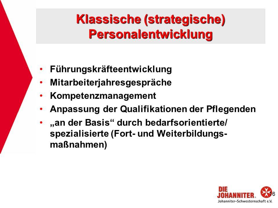 Klassische (strategische) Personalentwicklung