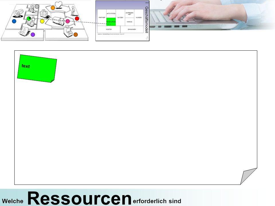 text Ressourcen Welche erforderlich sind