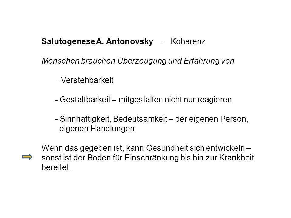 Salutogenese A. Antonovsky - Kohärenz