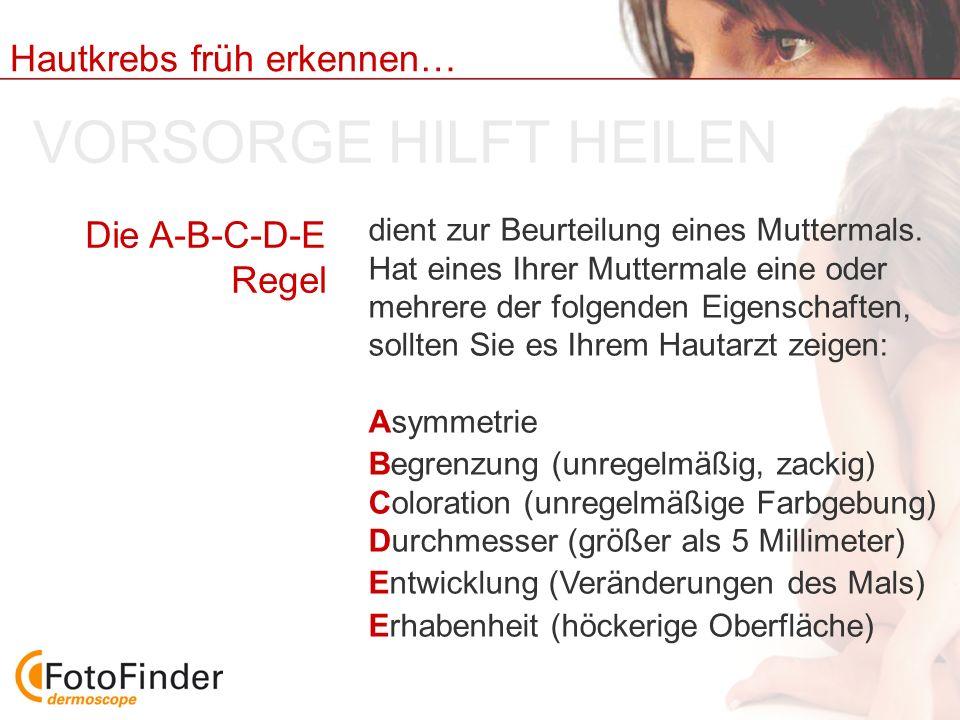 VORSORGE HILFT HEILEN Die A-B-C-D-E Regel
