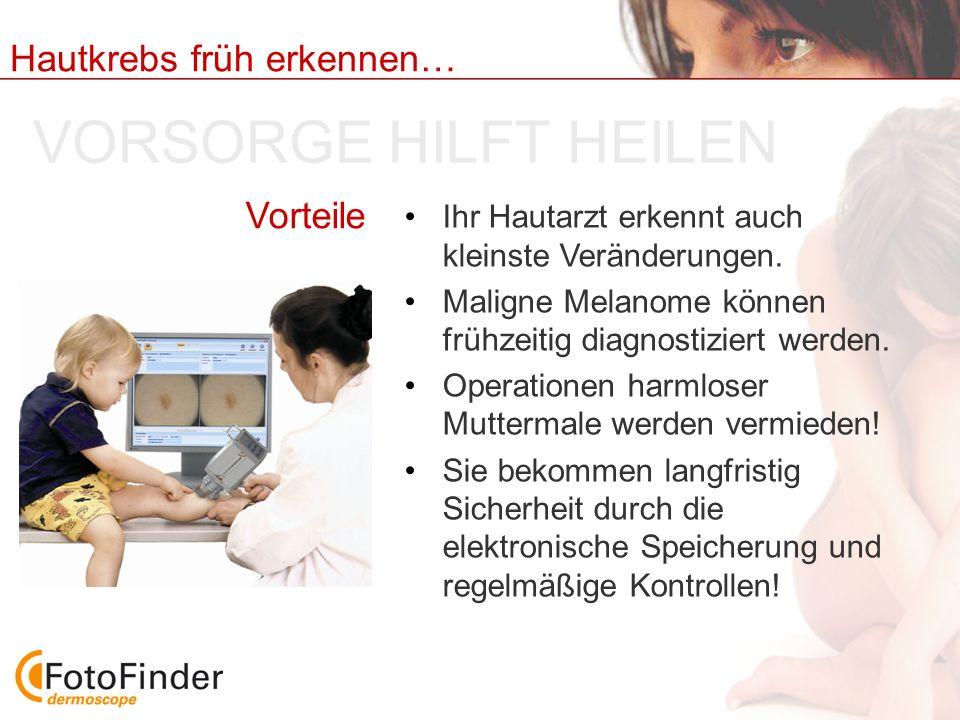 VORSORGE HILFT HEILEN Vorteile
