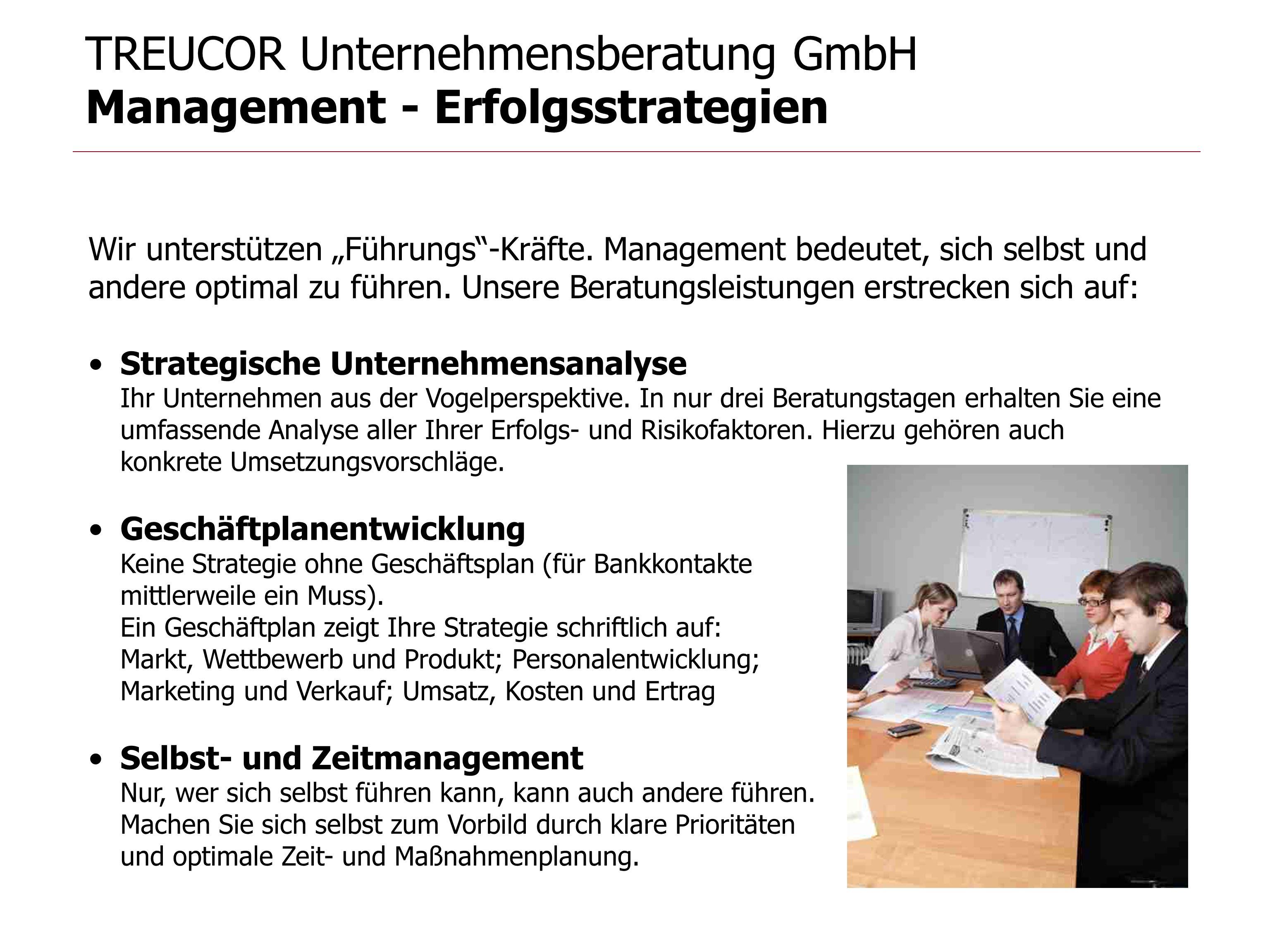 TREUCOR Unternehmensberatung GmbH Management - Erfolgsstrategien