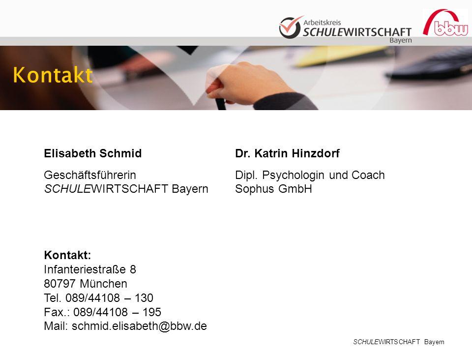 Kontakt Elisabeth Schmid Geschäftsführerin SCHULEWIRTSCHAFT Bayern