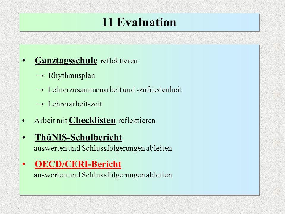 11 Evaluation Ganztagsschule reflektieren: ThüNIS-Schulbericht