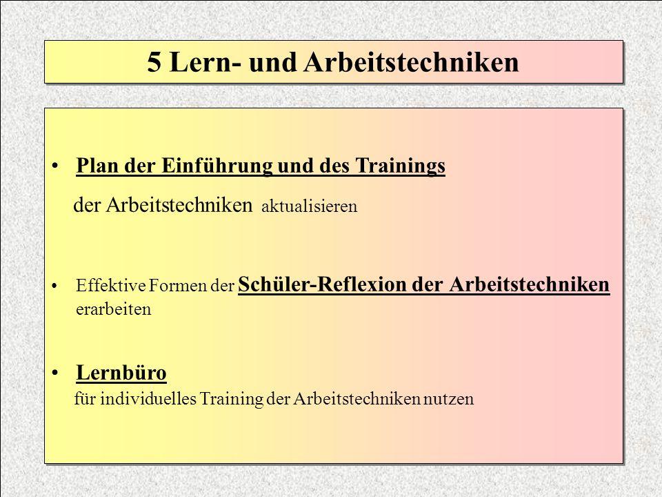 5 Lern- und Arbeitstechniken