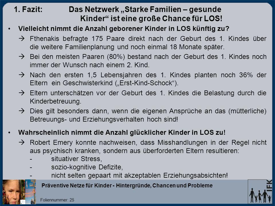 "1. Fazit:. Das Netzwerk ""Starke Familien – gesunde"
