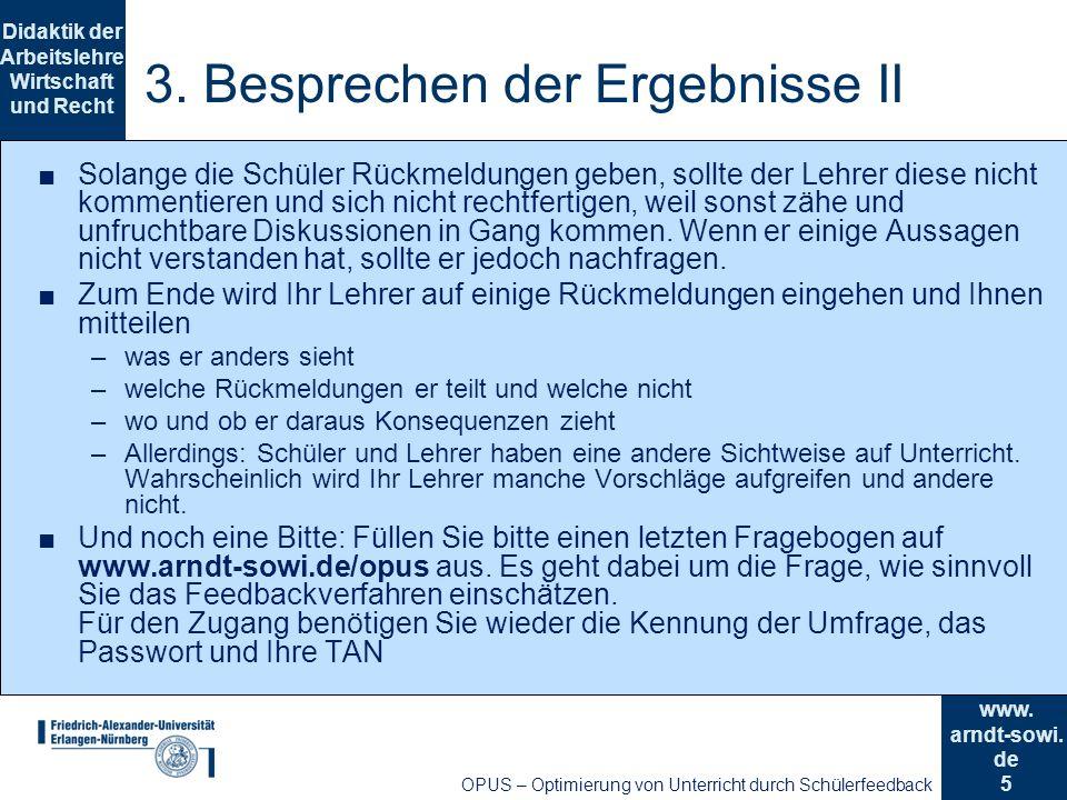 3. Besprechen der Ergebnisse II