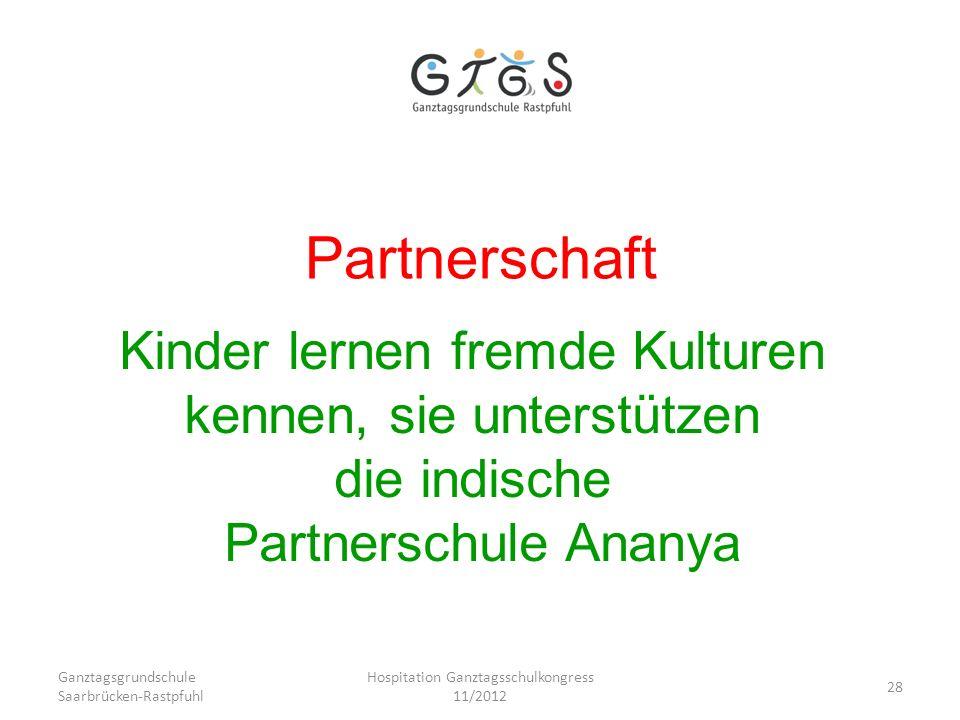 Partnerschaft Kinder lernen fremde Kulturen kennen, sie unterstützen