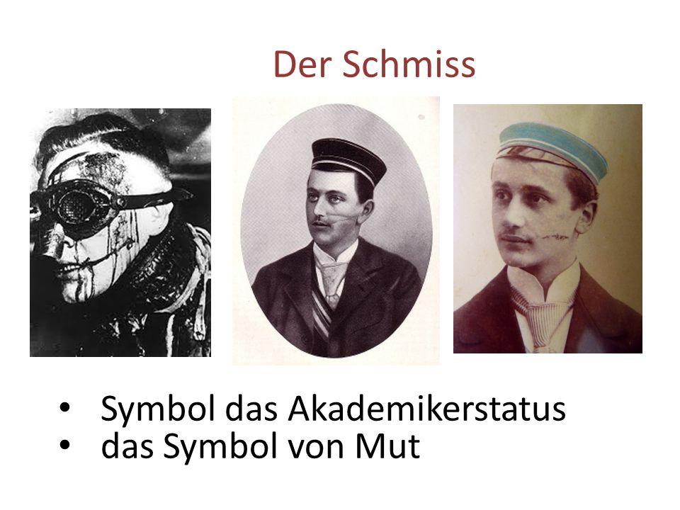 Der Schmiss Symbol das Akademikerstatus das Symbol von Mut