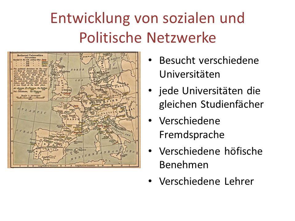 Entwicklung von sozialen und Politische Netzwerke