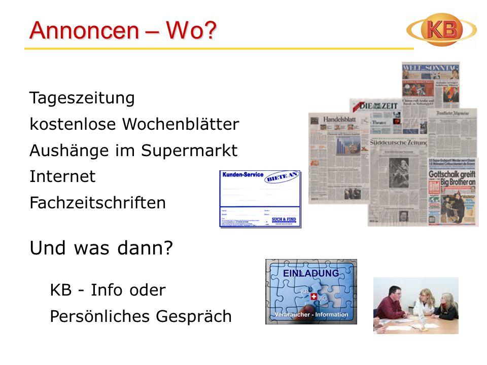 Annoncen – Wo Und was dann Tageszeitung kostenlose Wochenblätter