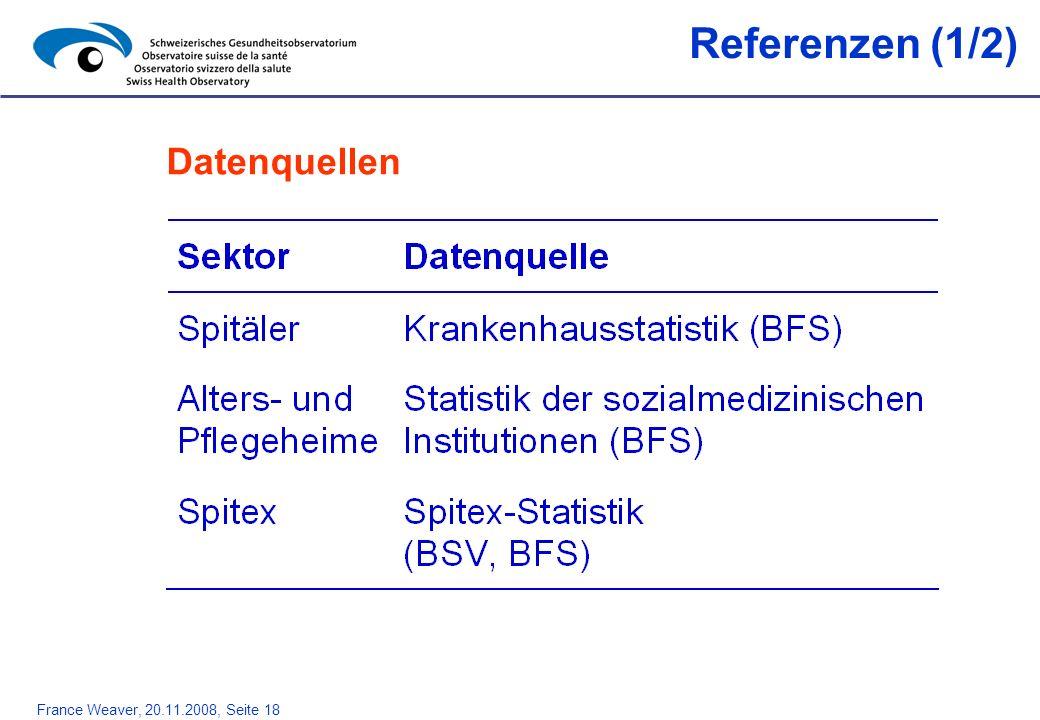 Referenzen (1/2) Datenquellen