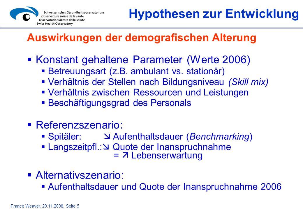 Hypothesen zur Entwicklung