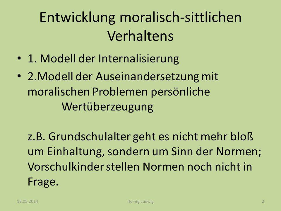 Entwicklung moralisch-sittlichen Verhaltens