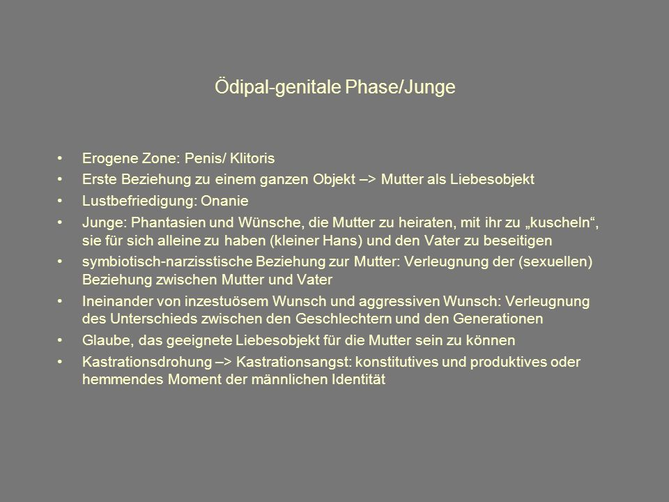 Ödipal-genitale Phase/Junge