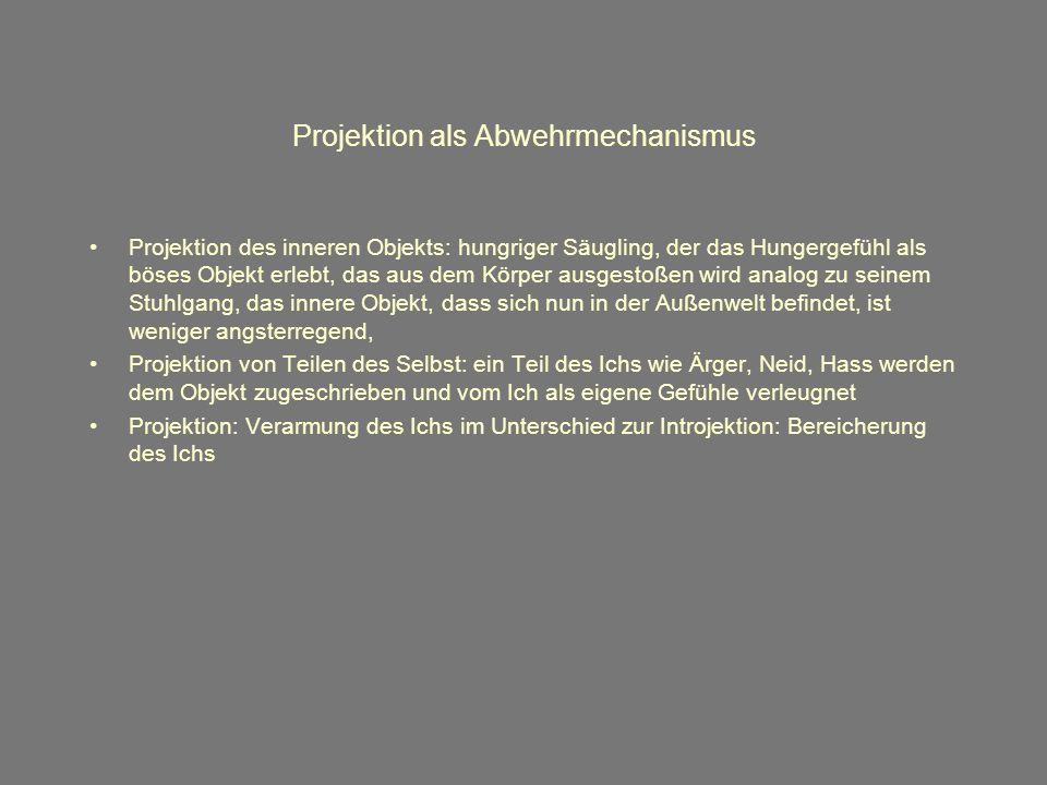 Projektion als Abwehrmechanismus