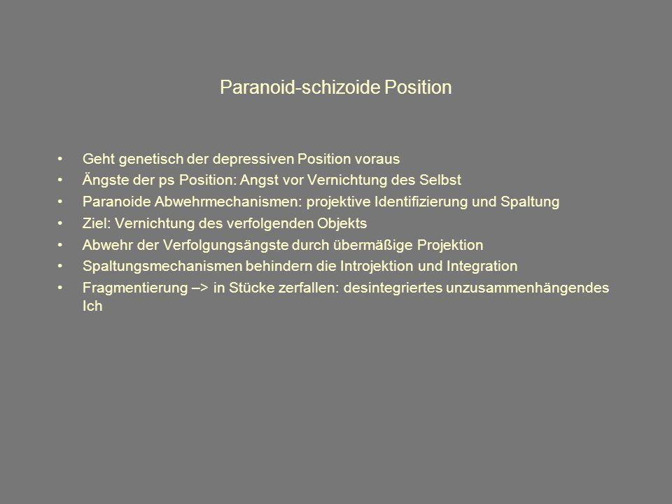 Paranoid-schizoide Position