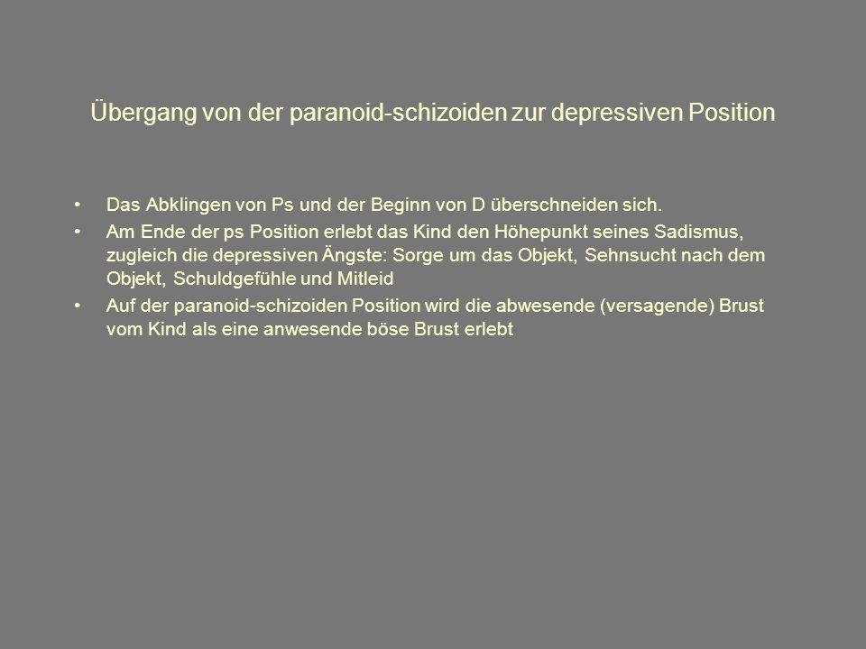 Übergang von der paranoid-schizoiden zur depressiven Position
