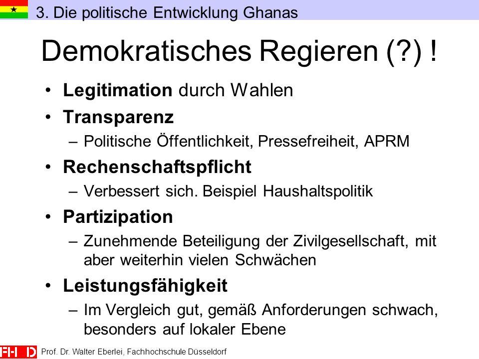 Demokratisches Regieren ( ) !