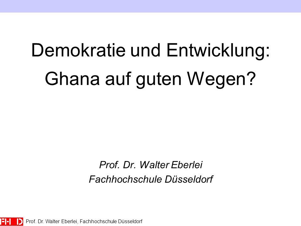Demokratie und Entwicklung: Ghana auf guten Wegen