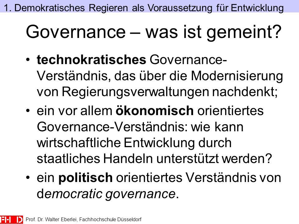 Governance – was ist gemeint