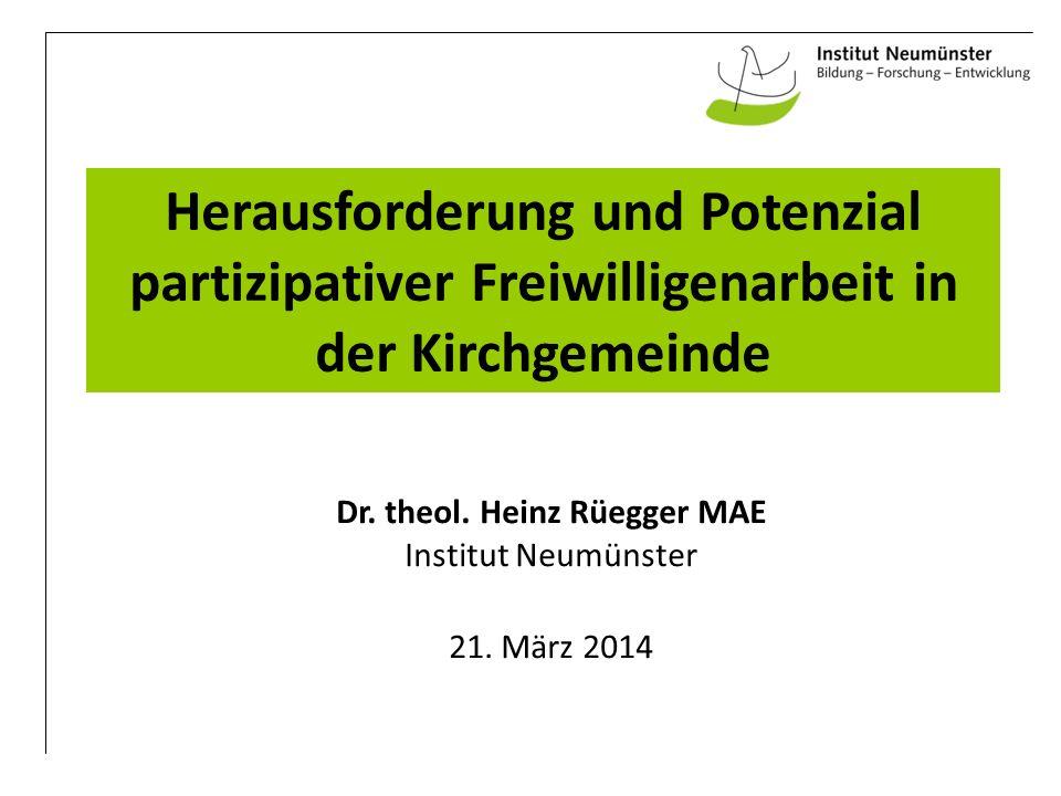 Dr. theol. Heinz Rüegger MAE