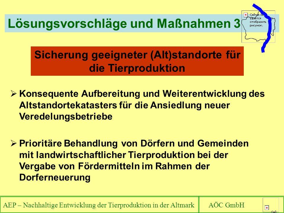 Sicherung geeigneter (Alt)standorte für die Tierproduktion