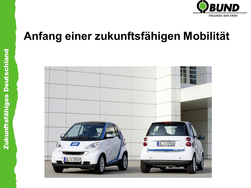 Anfang einer zukunftsfähigen Mobilität