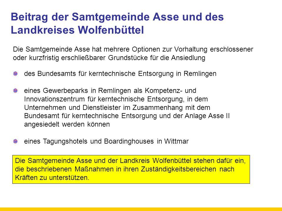 Beitrag der Samtgemeinde Asse und des Landkreises Wolfenbüttel