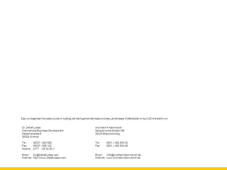 Das vorliegenden Konzept wurde im Auftrag der Samtgemeinde Asse und des Landkreises Wolfenbüttel im April 2014 erstellt von: