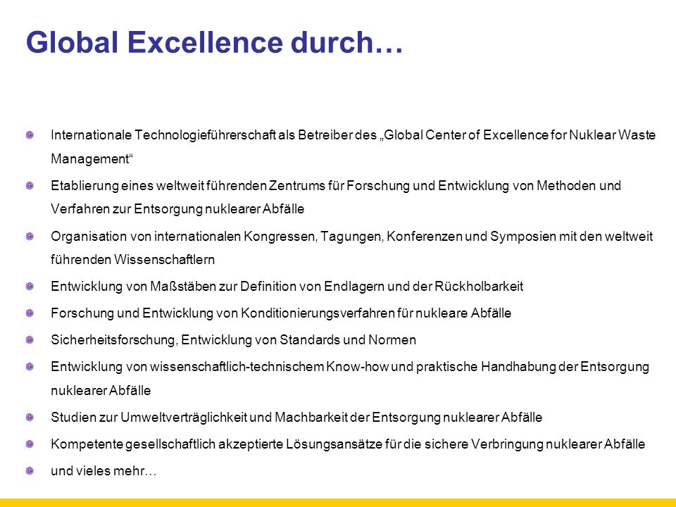 Global Excellence durch…