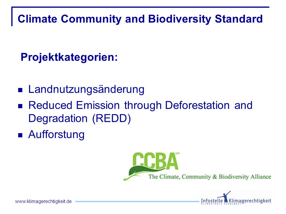 Climate Community and Biodiversity Standard