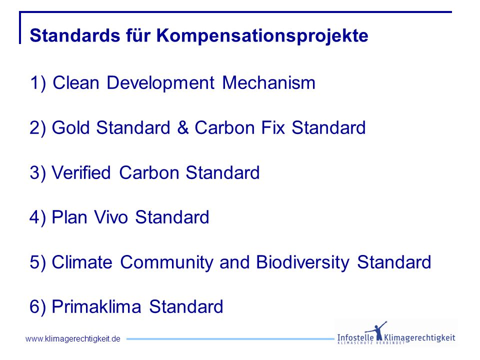 Standards für Kompensationsprojekte