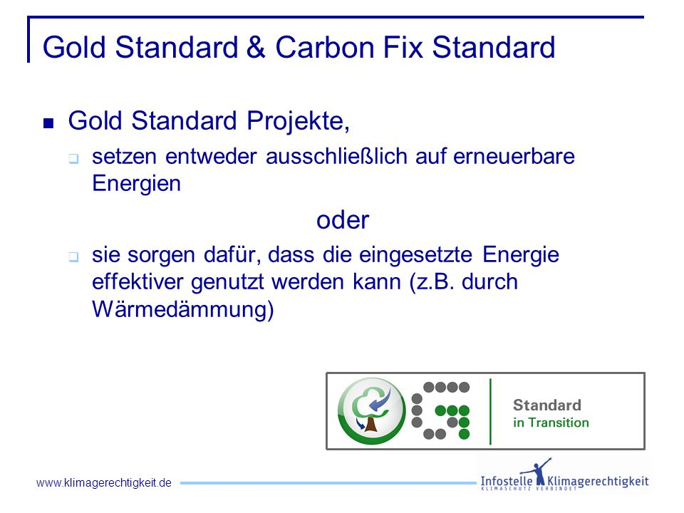 Gold Standard & Carbon Fix Standard