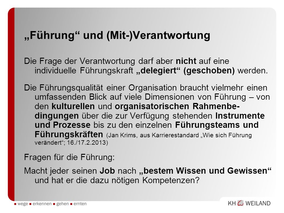 """""""Führung und (Mit-)Verantwortung"""