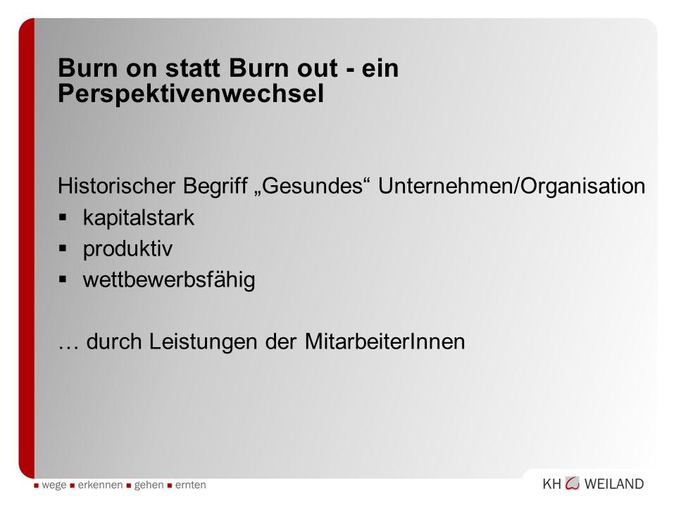 Burn on statt Burn out - ein Perspektivenwechsel