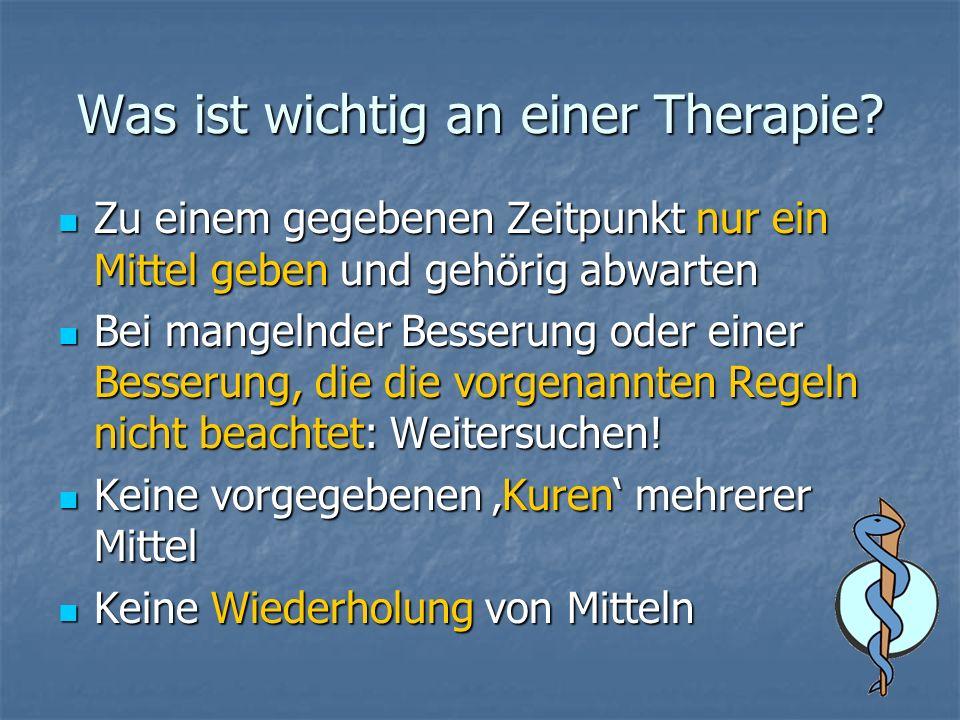 Was ist wichtig an einer Therapie