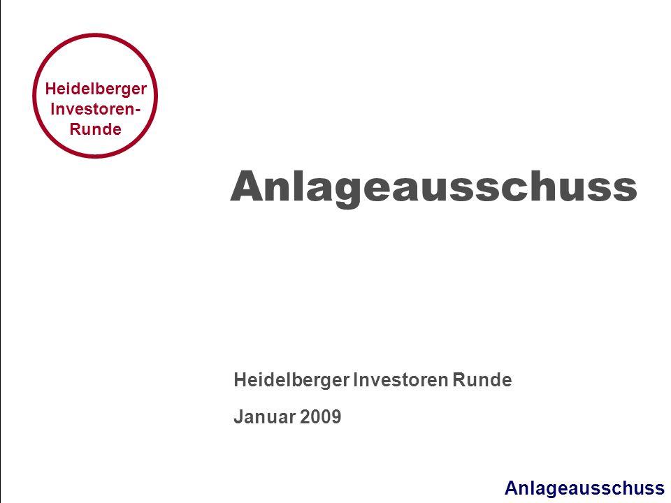 Heidelberger Investoren Runde Januar 2009